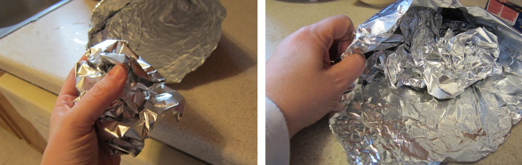 how to make a cone piece with foil