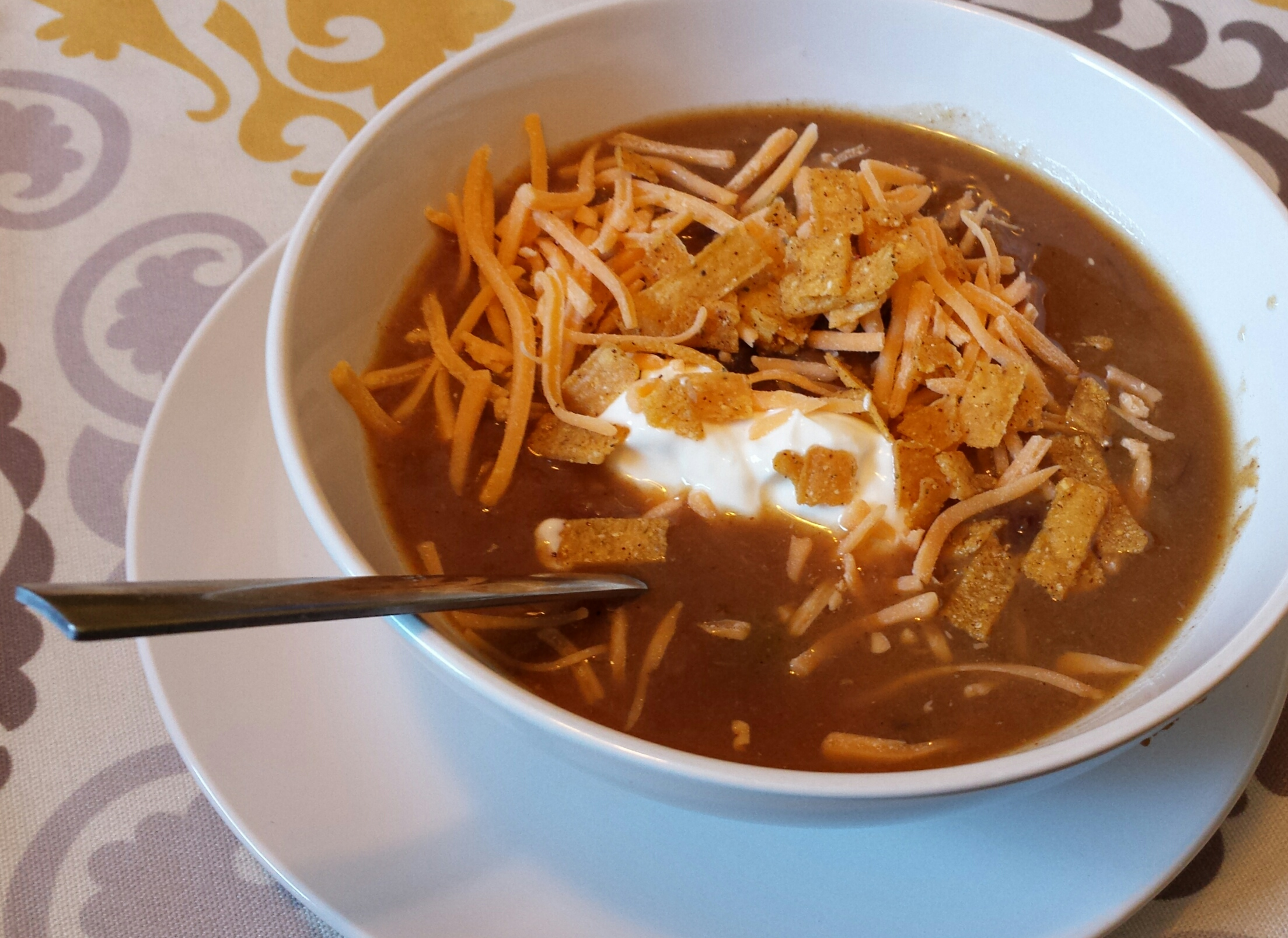 Slow-Cooker Chicken and Black Bean Soup